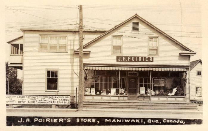Magasin J. H. Poirier, Maniwaki, vers 1920 / J. H. Poirier's Store, Maniwaki, c.1920