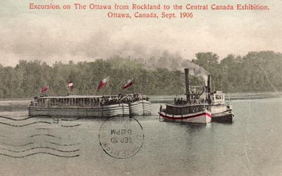 Excursion sur la rivière des Outaouais, 1906
