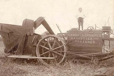 """Conroy's Combined Harvester & Thresher"""