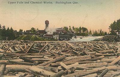 Chutes et usine de chimie / Upper falls and chemical works