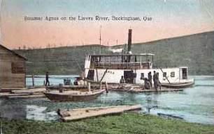 """Bateau à vapeur """"Agnes"""" sur la rivière Lièvre / Steamer """"Agnes"""" on the Lièvre River"""