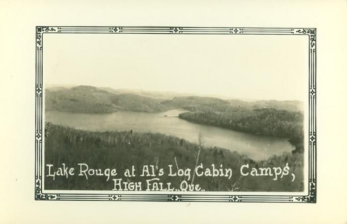 """Lac Rouge, """"Al's Log Cabin Camps"""""""