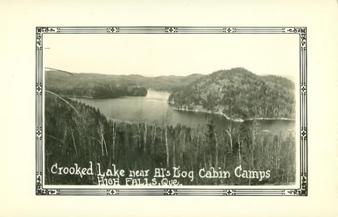 Crooked Lake, près de / near Al's Log Cabin Camps