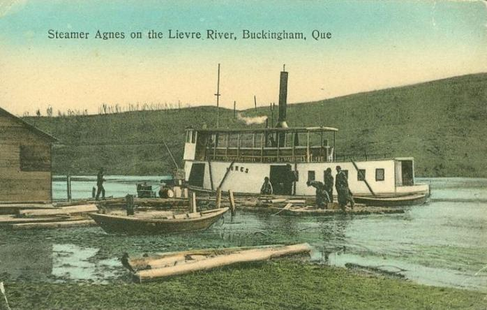 Steamer Agnes, Lièvre River, Buckingham