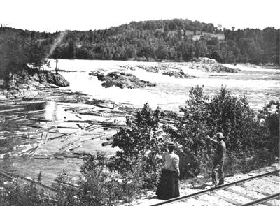 Gatineau River at Kirk's Ferry, Chelsea, 1898