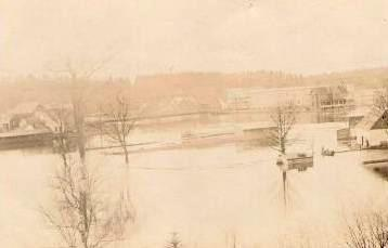 Maniwaki -- Inondation / Flood, 1908