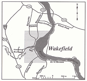 Map of Wakefield Village. (Source - Wakefield Revisited)