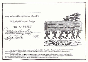 Certificate for river-side supervisors, produced by Joan Garnett.