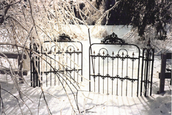 Gates, Old Chelsea Protestant Burial Ground. (Photo - Carol Martin)