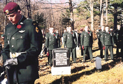 Members of the Canadian armed forces take part at the Remembrance Day Service, Chelsea Pioneer Cemetery. (Photo - Carol Martin)