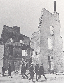 The ruins of Holt's Hotel.