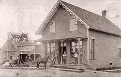 The first brick store, 1879-1898.