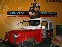 A postal jeep is one of the many full-sized artifacts on display within the museum. (Photo - Matthew Farfan)