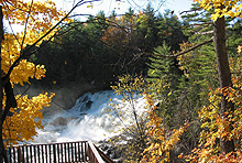 Autumn at the falls, from the lookout. (Photo - Matthew Farfan)