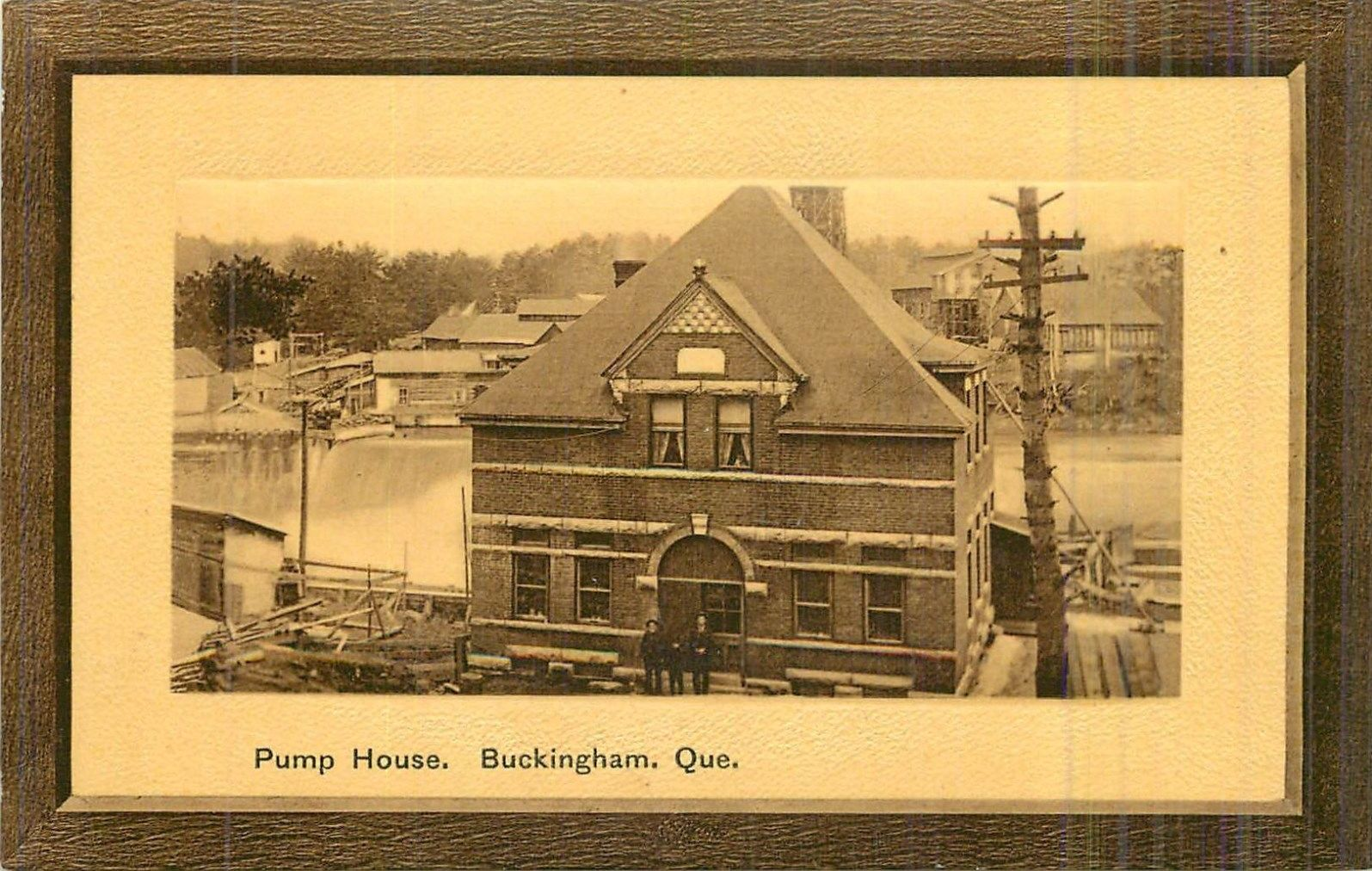 station de pompage buckingham vers 1908 pumphouse buckingham outaouais heritage. Black Bedroom Furniture Sets. Home Design Ideas